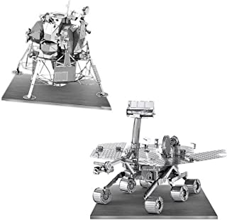Metal Earth 3D Laser Models Spacecraft Set of 2 - Mars Rover, Apollo Lunar Module
