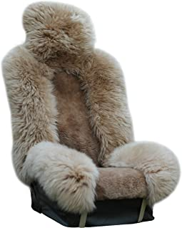 Genuine Sheepskin Seat Covers Fur Seat Covers for Cars Furry Seat Covers for Car Fuzzy Seat Covers for Car Fluffy Seat Cov...