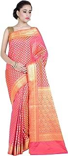 Best pure kanchipuram silk saree with blouse Reviews