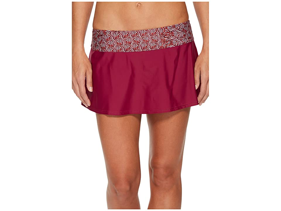 Prana Sakti Swim Skirt (Pomegranate Seashells) Women