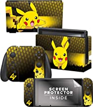 "Controller Gear Officially Licensed Nintendo Switch Skin & Screen Protector Set - Pokémon - ""Pikachu Elemental Set 1"" - Ni..."