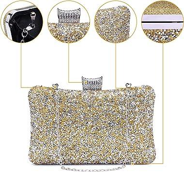 Tanpell Damen Abendtasche, einfarbig, glänzend, Clutch, Party, Hochzeit, Handtasche