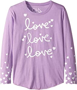 Super Soft Love Love Love Print Long Sleeve Tee (Little Kids/Big Kids)