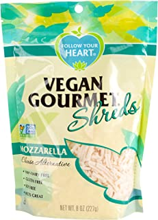 FOLLOW YOUR HEART Gourmet Shredded Cheese, Cheddar, 8 Ounce (Pack of 8)