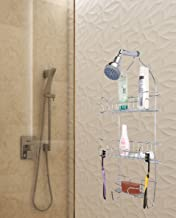 Zahab Stainless Steel Shower Caddy with One Soap Case and Towel Holder