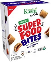 Kashi by Kids, Super Food Mixed Berry Bites, Soft Baked Organic Snacks, 5.6oz, 5 Count (Pack of 5)