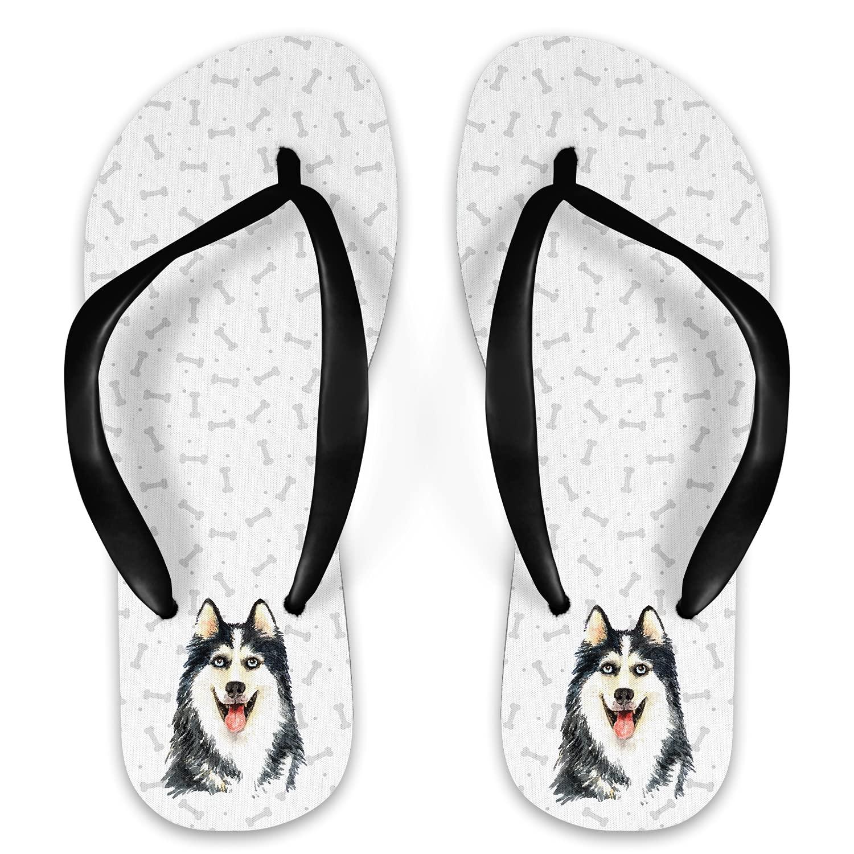 Al sold out. Popular brand Watercolor Husky Flip Flops
