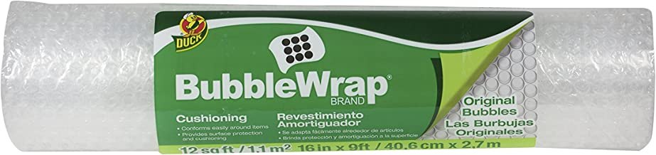 Duck Brand Bubble Wrap Original Cushioning, 16-Inches x 9-Feet, Single Roll (297446)