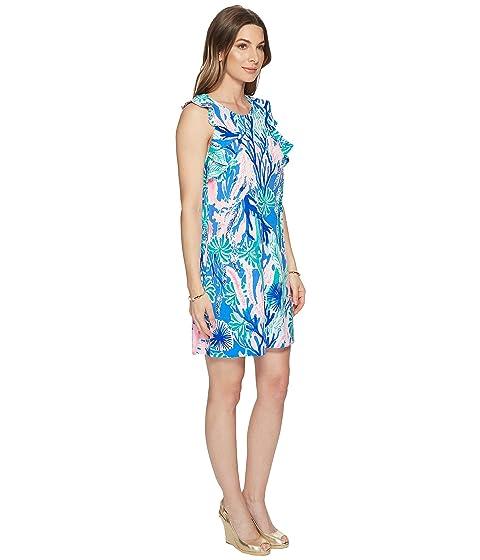 descubiertos con Laurana Engineered vestido Pulitzer Blue Lilly Mocean hombros Ikat tXawPc6qn