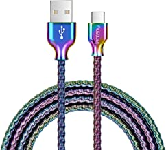 USB Type C Cable,Fantany Durable Metal USB A to C Charging Cable&Sync Compatible with Galaxy S10,S9,S9+,S8,S8+,Note 8,9,LG V40,50 G7,8, Pixel 2,3,HTC 10,Nexus 5X/6P, 3.3Feet,1Pack (Colourful, 3.3ft)