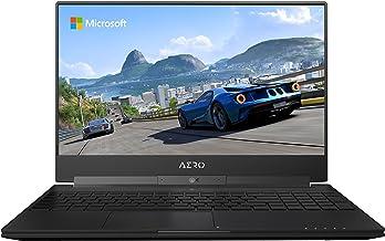 "GIGABYTE Aero 15W v8-BK4 15"" Ultra Slim Gaming Laptop 144Hz FHD X-Rite i7-8750H, GeForce GTX 1060, 16G RAM, 512GB SSD, Met..."