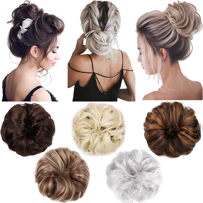 Hebelin 1pcs Messy Seasonal Wrap Introduction Hair Bun Scrunchy Wav Updo Extensions Popular Elastic
