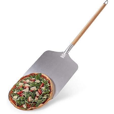 Blumtal - Pelle A Pizza - Spatule Professionnelle Cuisson Authentique - Pelle Pizza Haute Qualité - Pelle à Pizza Aluminium et Bois