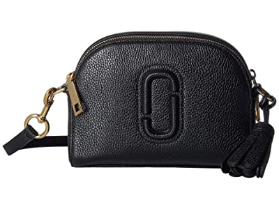 Marc Jacobs Shutter Crossbody (Black) Handbags