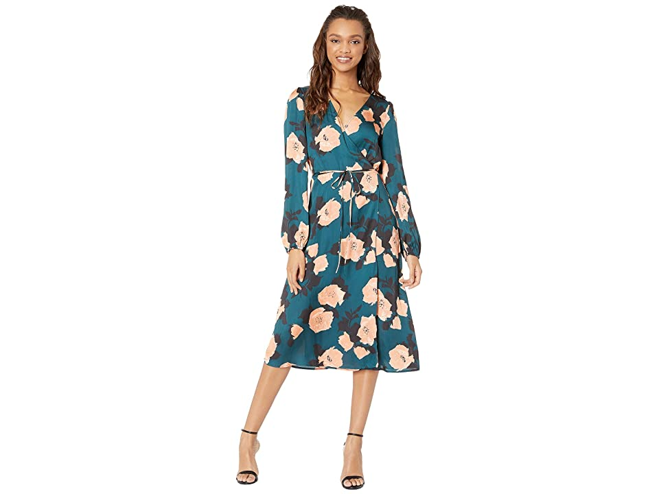 Paige Fontaine Midi Dress (Deep Teal/Muted Clay) Women