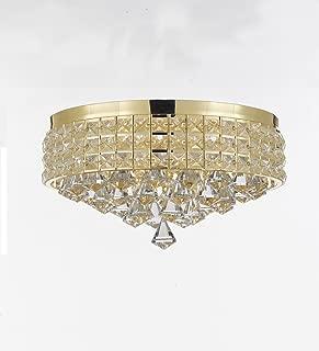 beaded chandelier flush mount