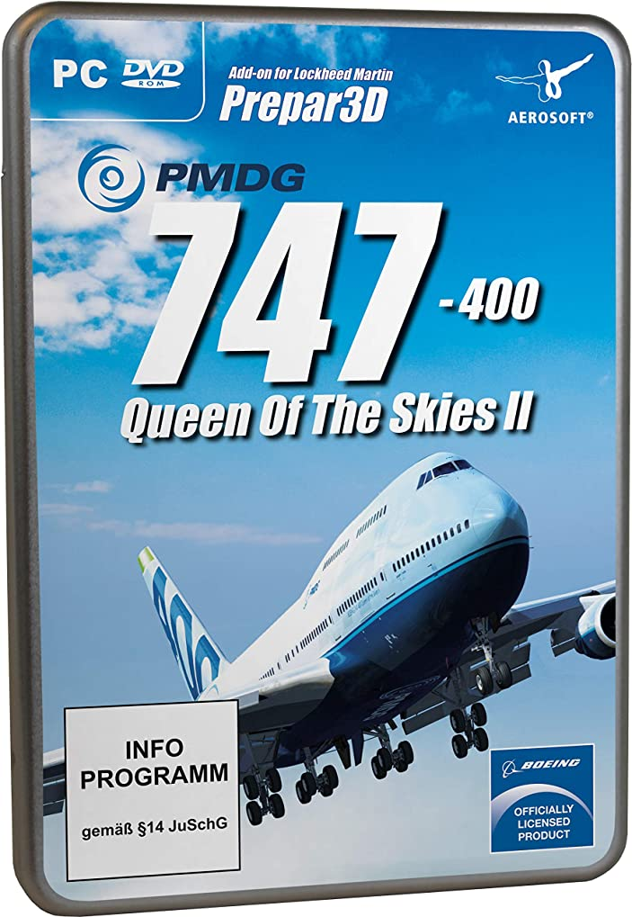 納屋シネマ博物館PMDG 747-400 V3 Queen of the Skies II for P3D V4 (輸入版)