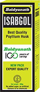 Baidyanath Isabgol - Psyllium Husk Powder made from Premium Isabgol Seeds - 200g
