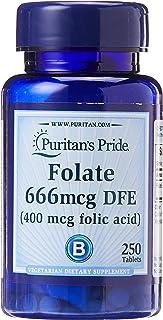 Puritan's Pride Folic Acid, 400mcg, 250ct