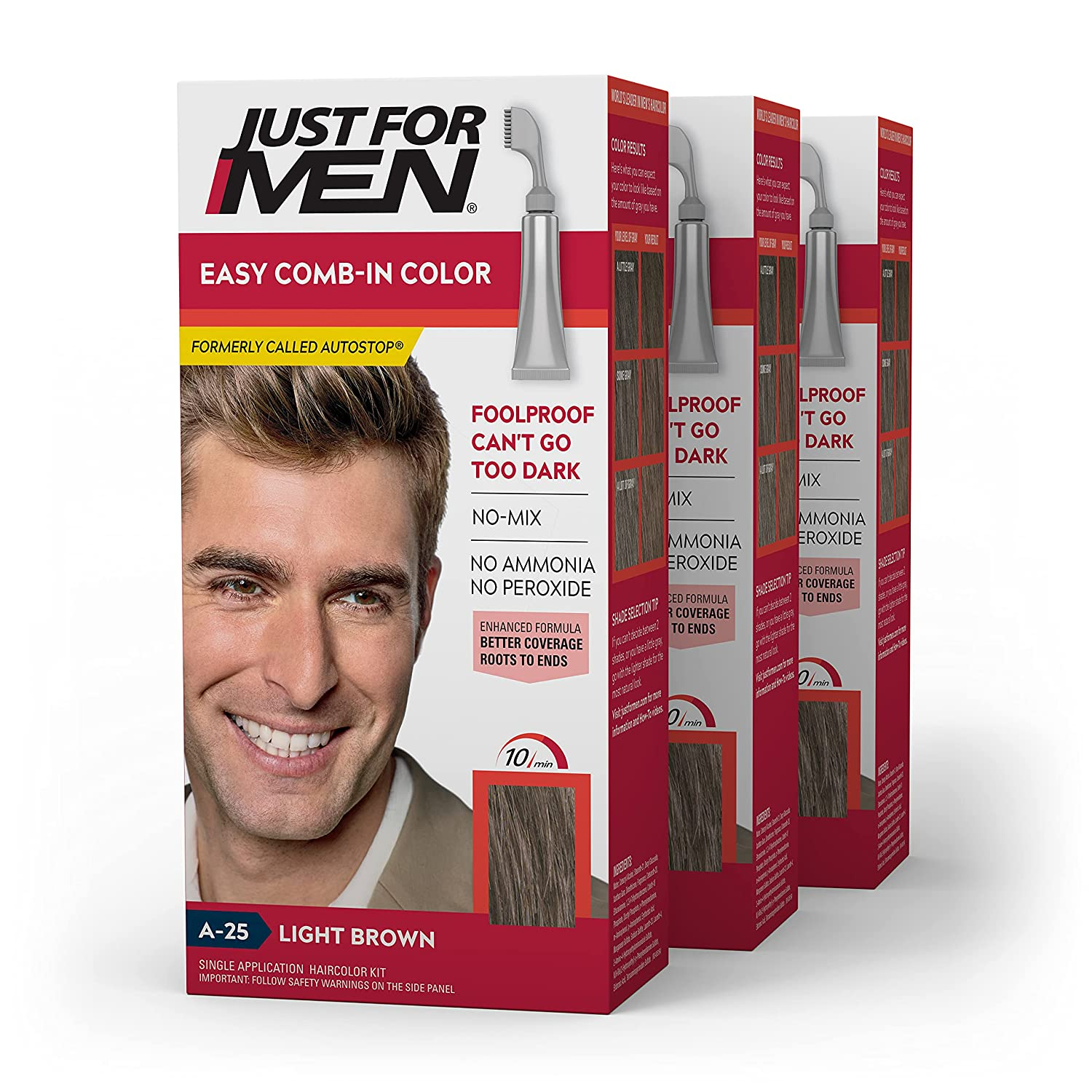 Just for free shipping Men Ranking TOP5 Easy Comb-In Color C Hair Gray Formerly Autostop
