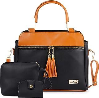 Speed X Fashion Women Hand Held Bag Black Combo