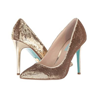 Blue by Betsey Johnson Lani (Gold Sequins) High Heels