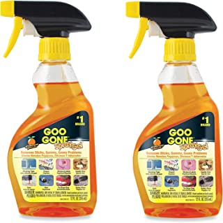 Goo Gone Gel Getting Rid of Sticky Residue Just Got Easier Spray Bottle 12oz (2 Pack) Made in USA