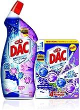 Dac Floral Toilet Cleaner 750ml plus Rim Block Lavender