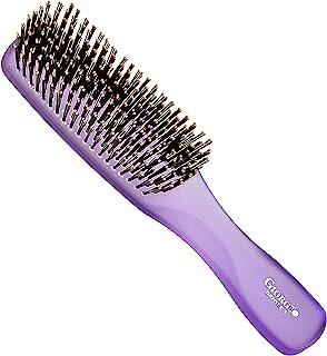 (Large, Purple) - Giorgio GION1PP Neon Purple 20cm Gentle Touch Detangler Hair Brush for Men and Women. Soft Bristles for ...