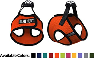 Dogline Boston Step-in Air Mesh Dog Harness with Barn Hunt Patch No Choke Pet Vest Soft Gentle Padded Chest Halter for Puppies Small Medium and Large Dogs