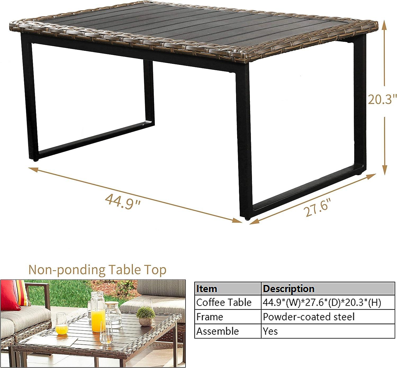ghdonat.com PatioFestival Wicker Patio Coffee Table Side Patio ...