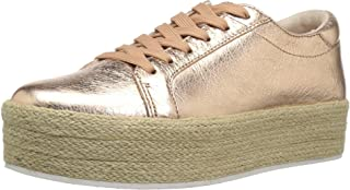 Kenneth Cole New York Womens KL01942MB Allyson Platform Lace Up Sneaker with Jute Wrap- Techni-Cole Gold Size: 11 US / 11 AU