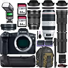 Canon EOS R Mirrorless Digital Camera w/Canon 24-105mm STM, Canon 100-400mm is II USM & Commander 420-800mm Telephoto Lens + Accessory Kit (Canon Mount Adapter, Canon Backpack, 2X 64GB SD & More)