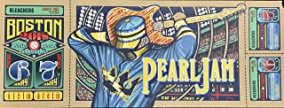 Pearl Jam boston poster fenway park brad klausen 2018 tour pj new