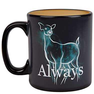 Harry Potter Always Heat Reveal Ceramic Coffee Mug - Doe Patronus Activates with Heat - 20 oz.