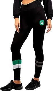 Ultra Game NBA Boston Celtics Women's Leggings Perimeter Fitness Sport Yoga Pants, Small, Black