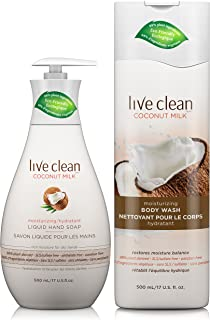 Live Clean Coconut Milk Moisturizing Liquid Hand Soap with Body Wash