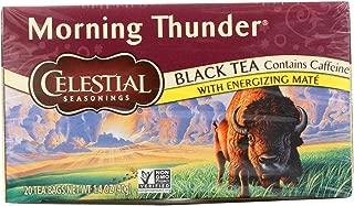 2 Pack of Celestial Seasonings Black Tea - Morning Thunder - 20 Bags - Gluten Free - Kosher - 100% Natural