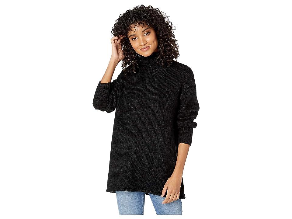 Sanctuary Supersized Curl Up Sweater (Black) Women