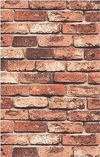 HaokHome 69090 3d Faux Brick Wallpaper Red Brick Wall Paper 20.8