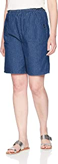 Chic Classic Collection womens Cotton Pull-On Elastic Waist Utility Pocket Bermuda Short Utility Pull on Bermuda