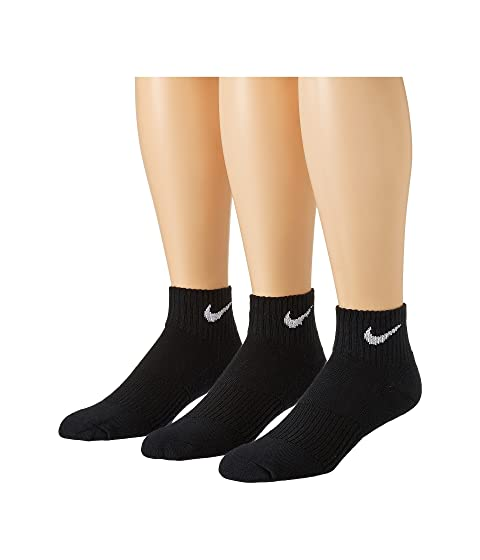 Nike Cotton Cushion Quarter with Moisture Management 3-Pair Pack. 5Rated 5  stars 26 Reviews. $14.00. PAIR; TOPP. PAIR. Black/White