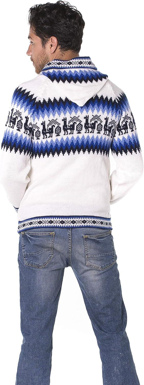 Gamboa - Alpaca Sweater Alpaca Wool Cardigan with Hood Alpaca Sweater for Men