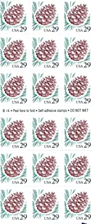 Pine Cone, Full Booklet of 18 x 29-Cent Postage Stamps, USA 1993, Scott 2491