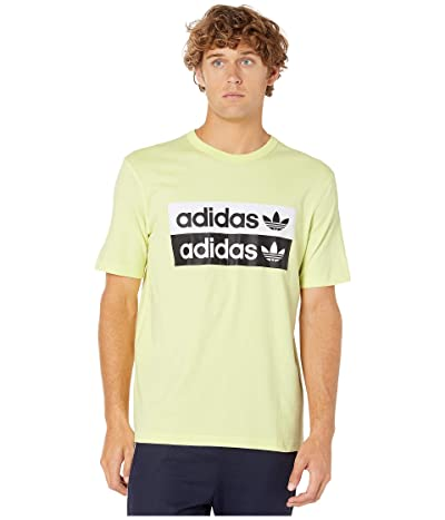 adidas Originals Vocal Logo Tee (Ice/Yellow) Men