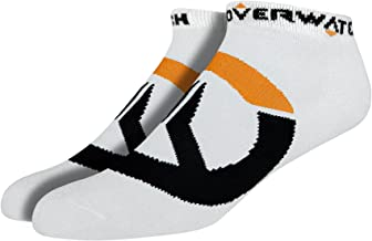 JINX Overwatch Logo Embroidered Athletic Ankle Socks, 3 Pack