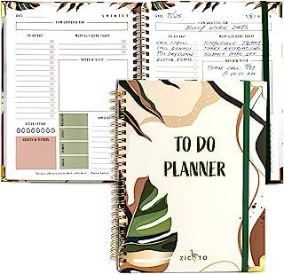 دفترچه راهنمای برنامه ریز لیست کارها ساده - کارهای روزانه خود را به راحتی سازماندهی کرده و بهره وری را افزایش دهید - چک لیست مجلات روزانه کامل و لیست لوازم اداری بدون تاریخ برای زنان