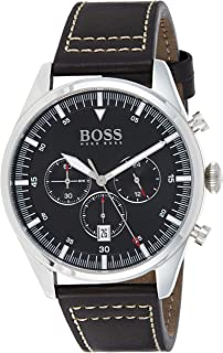 Hugo Boss Mens Quartz Watch, Chronograph Display and Leather Strap 1513708