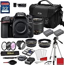Nikon D7500 DSLR Camera & AF-P 18-55mm VR Lens with Deluxe Accessory Kit (2 Battery Bundle)