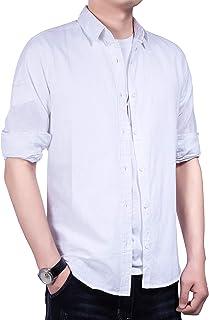 Sulliwayu シャツ 長袖 メンズ カジュアル ストライプ ワイシャツ オックスフォード ビジネス ポケットシャツ 綿100% スリム オシャレ フォーマル ストリート かっこいい ストレッチ 重ね着 大きいサイズ 防菌防臭 アウター 春 夏